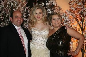 Brenda e seu pai Jose Caldas e sua mae Branca
