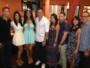 Jordan, Amanda,Allyssa, Jarrod, Yari, Chris, Camila e Teddy