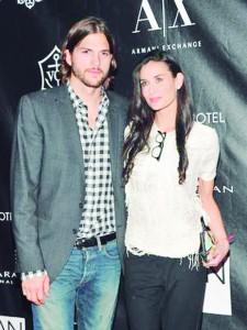 Demi Moore e Ashton