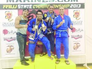 Estevao, Fran, Marcio e Ricardo foram destaques na competição.