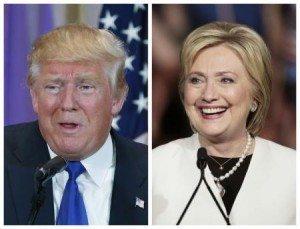 Fotos dos pré-candidatos à Presidência dos EUA Donald Trump e Hillary Clinton. 01/03/2016 REUTERS/Scott Audette (esquerda), Javier Galeano (direita)