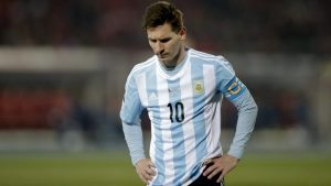 epa04969099 (FILE) A file picture dated 04 July 2015 shows Argentinian striker Lionel Messi during the Copa America 2015 final soccer match between Chile and Argentina, at Estadio Nacional Julio Martinez Pradanos in Santiago de Chile, Chile. On 08 October 2015 the judge in charge of the case decided to refuse the request of dropping charges against the player. Messi and his father are being accused over tax fraud in Spain. EPA/Fernando Bizerra Jr. *** Local Caption *** 52039393