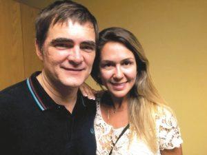 Samuel Rosa do Skank com a Connie Morato