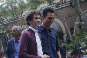 Art Parkinson e Matthew McConaughey durante a coletiva. Foto: Jesus Figueroa