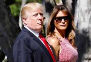 casal Donald e Melania Trump modelo playboy