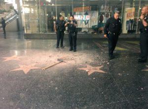 Estrela Donald Trump vandalizada