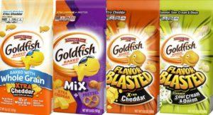 Quatro variações dos biscoitos Goldfish estão incluídos no recall.