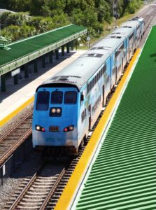 Trem Tri Rail operação sul Flórida