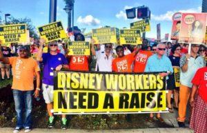 Disney aumento salário mínimo funcionários