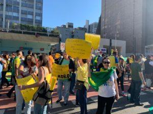 Cidades no exterior também registraram atos pró governo Bolsonaro no domingo